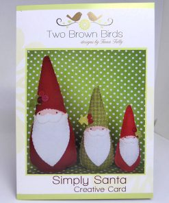 Two Brown Birds Simply Santa